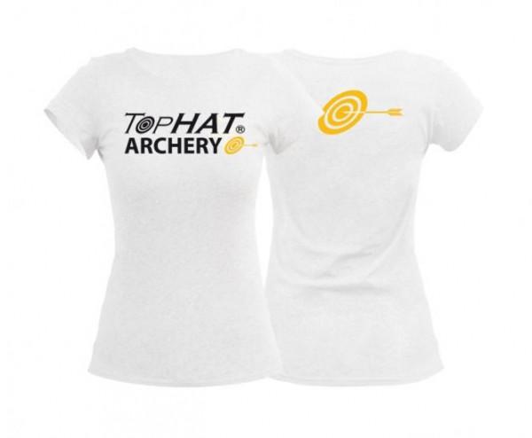 End of Line/Eingestellt: T-Shirt Frauen Weiß L